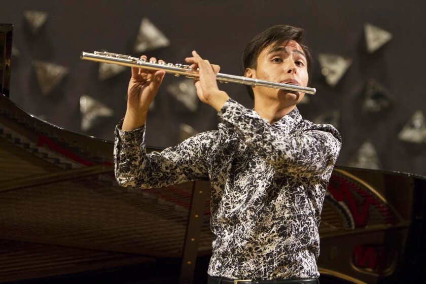 Carlos Aguilar has swept San Diego's classical music scene by winning first prize in all open competitions for young talent. Courtesy photo
