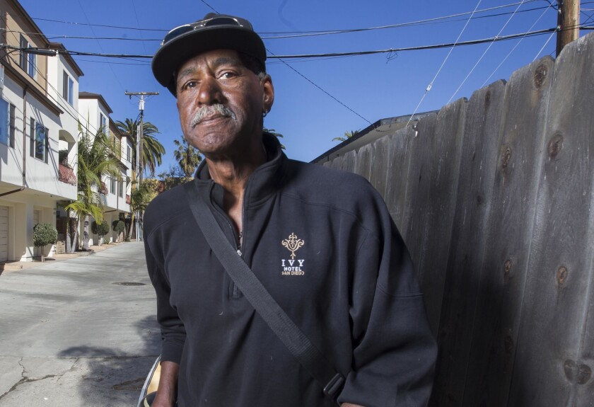 Zack Smith, a homeless man who is living in Pacific Beach, has filed a claim against the city of San Diego alleging harassment.