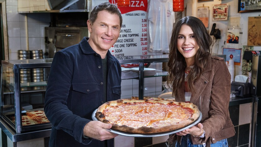 """Chef Bobby Flay and Sophie Flay in """"The Flay List"""" on Food Network."""