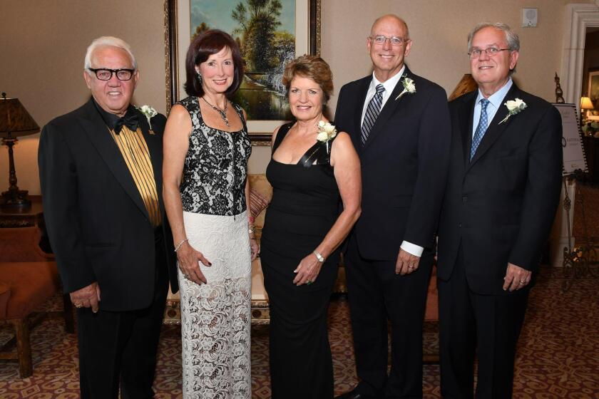 Dan and Barbie Spinazzola (he's an honoree), Laurie McGrath (honoree), Bob Taylor (honoree), Kurt Listug (honoree) (The honorees are inductees into the Junior Achievement Hall of Fame)