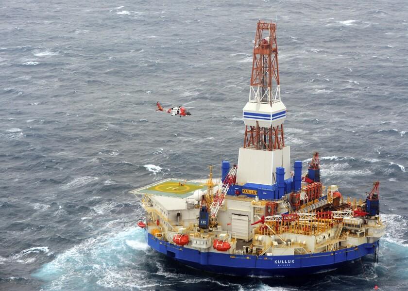 Royal Dutch Shell's Arctic drilling rig, the Kulluk.