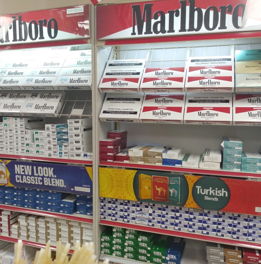 packs of cigarettes on sale
