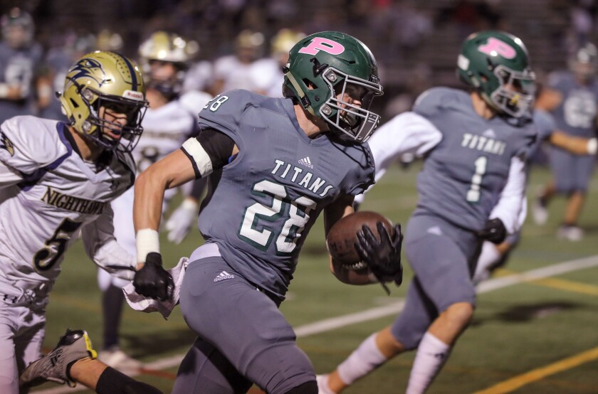 Poway running back Josh Butler had 1,342 yards total offense for the Titans.