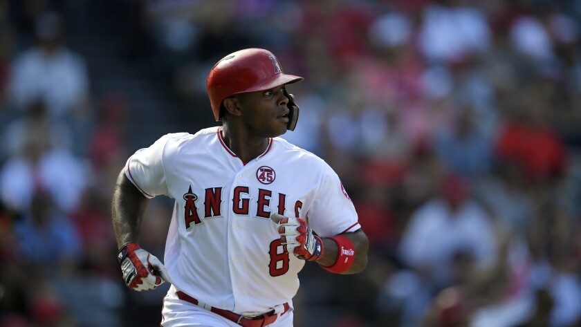 Angels left fielder Justin Upton has been limited to 63 games this season because of injury.