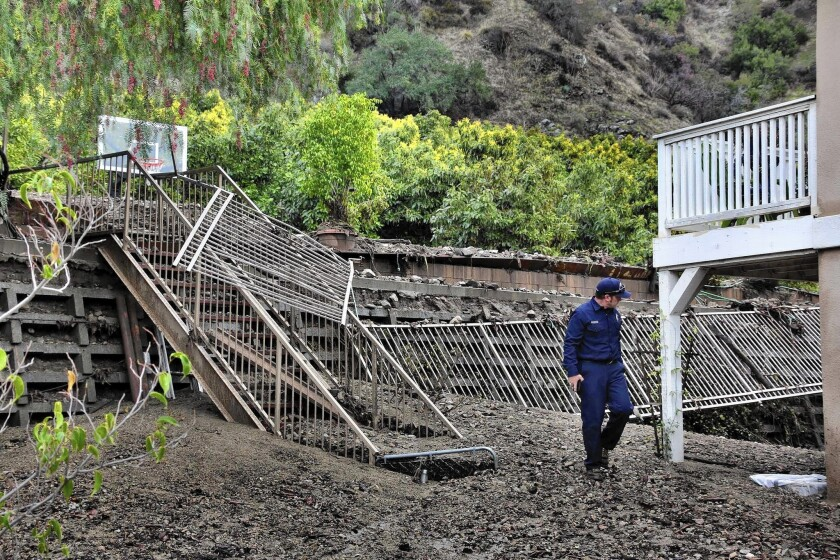 Rainstorm unleashes mud in L.A. area