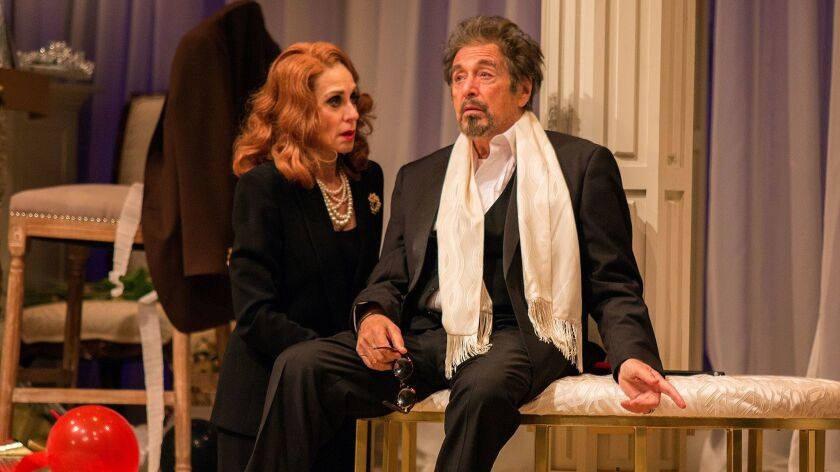 """Al Pacino plays Tennessee Williams in """"God Looked Away,"""" costarring Judith Light, at the Pasadena Playhouse."""