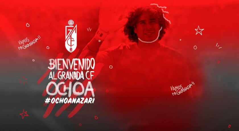 Así anunció el Granada la llegada del portero mexicano Guillermo Ochoa.