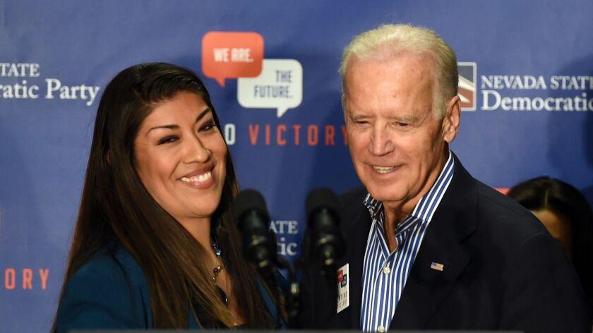 Joe Biden And Eva Longoria Campaign For Nevada Democrats