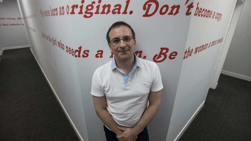 Mugur Frunzetti, CEO of Studio 20, a Romanian based web-camming company.