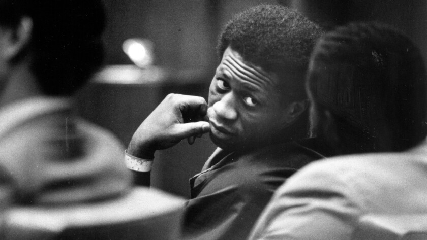 "Bobby Joe Maxwell, seen here in a 1984 file photo, when he was convicted in two of the 10 homicides attributed to the ""Skid Row Stabber."""