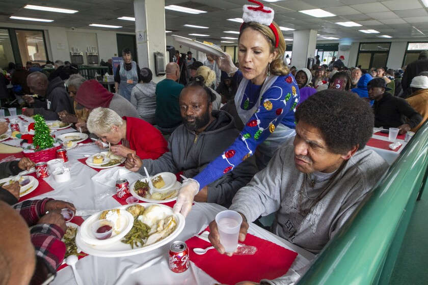 Father Joes Christmas lunch