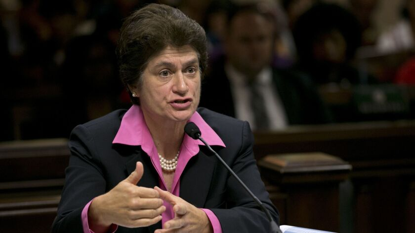 California State Auditor Elaine M. Howle, shown in 2017, released an audit Thursday showing that the state judicial watchdog agency failed to thoroughly investigate alleged wrongdoing by some judges.