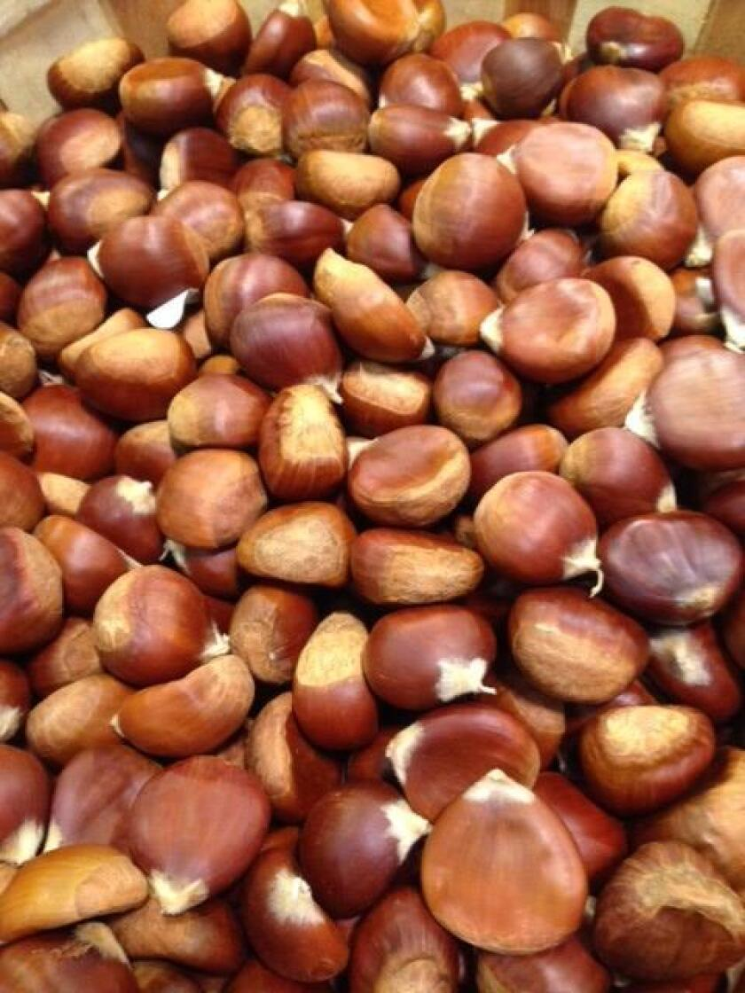 Chestnuts, the darling fruit of the holiday season are downright unpalatable when eaten raw. Beside roating them, chestnuts can be made into a puree.