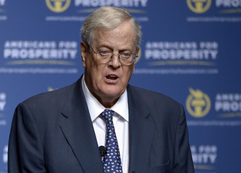 Billionaire David Koch, one of ALEC's sugar daddies.