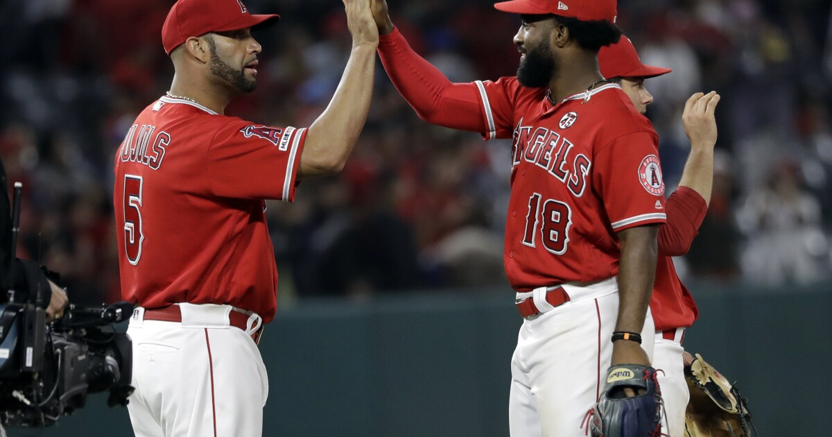 Angels hit Jake Marisnick and don't back down from Astros as