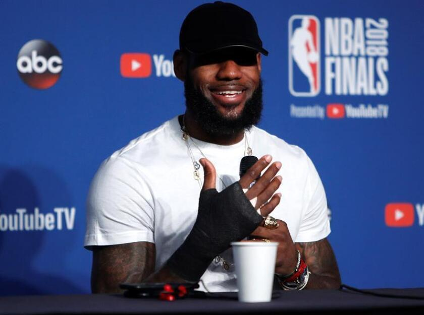 LeBron James, estrella de la NBA. EFE/Archivo
