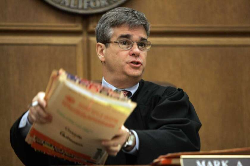 Los Angeles County Superior Court Judge Mark Juhas handles divorce and other family law cases in a downtown courtroom.