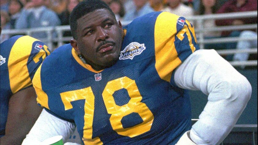 Jackie Slater with the Rams in 1995.