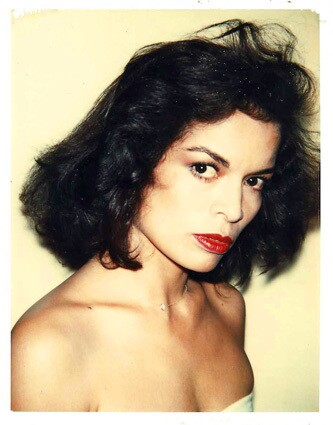 """""""Bianca Jagger, 1979."""" One of the Polaroid photos in the exhibit """"Looking into Andy Warhol's Photographed Practice"""" at the USC Fisher Museum of Art. Jagger was one of Warhol's Studio 54 pals and is the former wife of Rolling Stones singer Mick Jagger."""