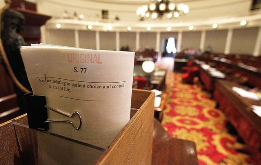 The bill on patient choice, S-77, was passed by Vermont's Legislature in Montpelier.