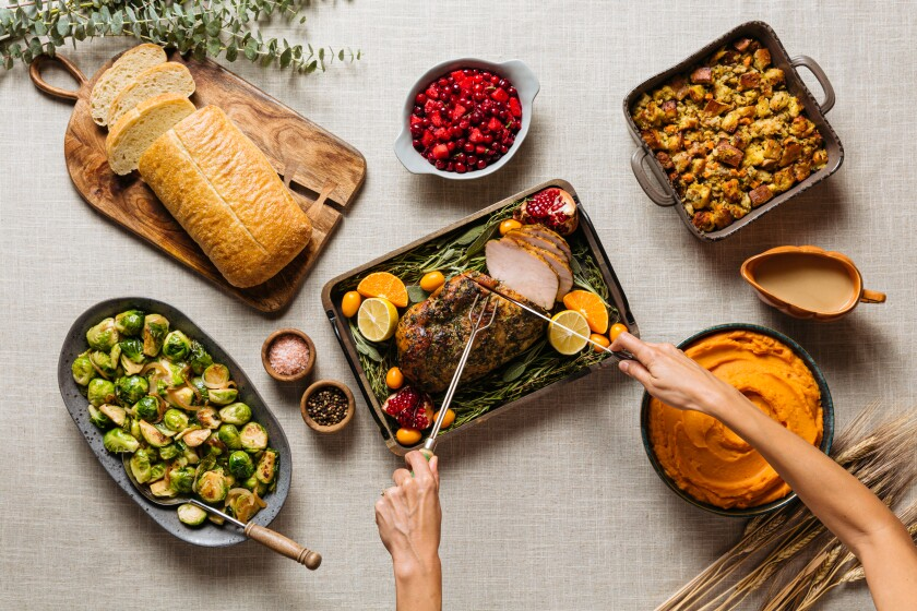 Urban Plates' holiday family dinner, available for pickup in Carlsbad, Del Mar and La Jolla.