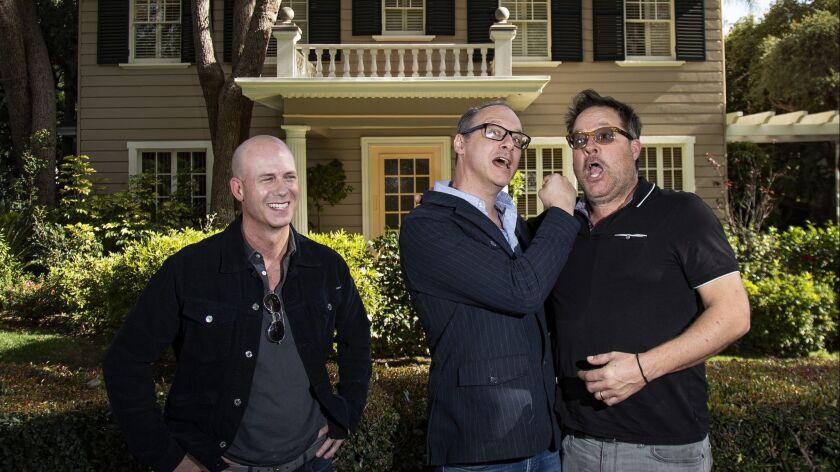 LOS ANGELES, CA - JANUARY 24, 2019: Producer Tripp Vinson, left, director Nicholas McCarthy, middle,