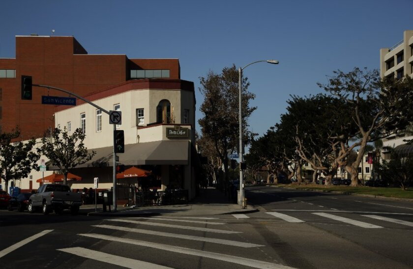The building at 11752-11770 San Vicente Boulevard in the Brentwood neighborhood of Los Angeles.