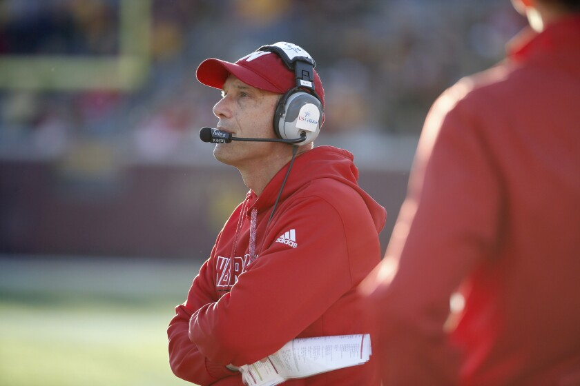 Nebraska Coach Mike Riley says the Huskers are not going to apologize for being selected for the Foster Farms Bowl despite a losing record.