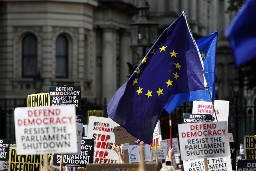Anti-Brexit protesters hold rally in London