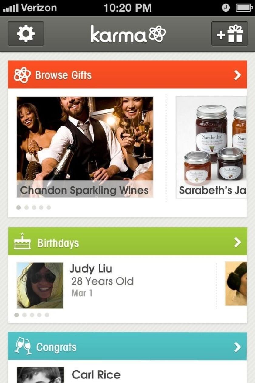 Karma gifting screenshot