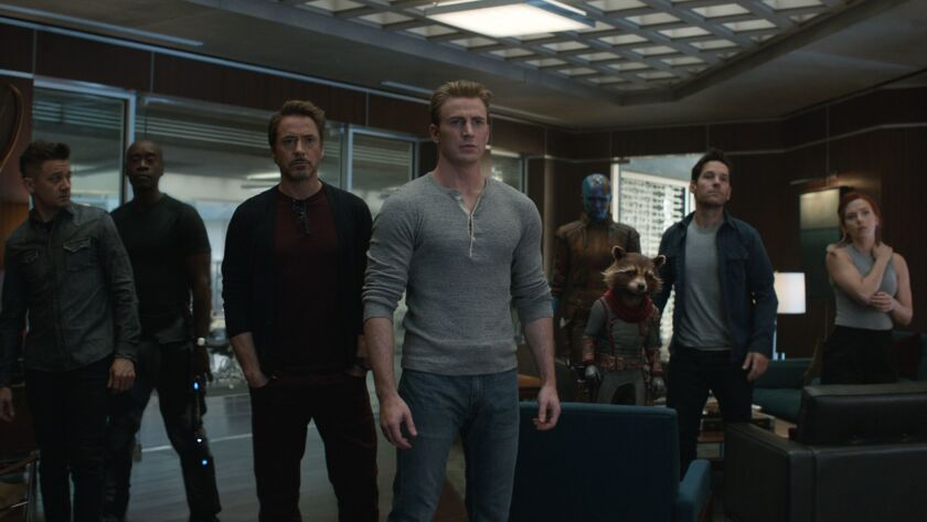 (L-R)- Hawkeye/Clint Barton (Jeremy Renner), War Machine/James Rhodey (Don Cheadle), Iron Man/Tony