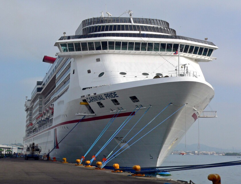 The Carnival Pride is one of three ships in the fleet that will begin charging room service fees for selected items.
