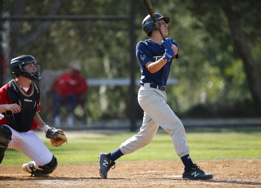 LCC catcher Austin Machado reached base four times and made a crucial defensive play in the win.