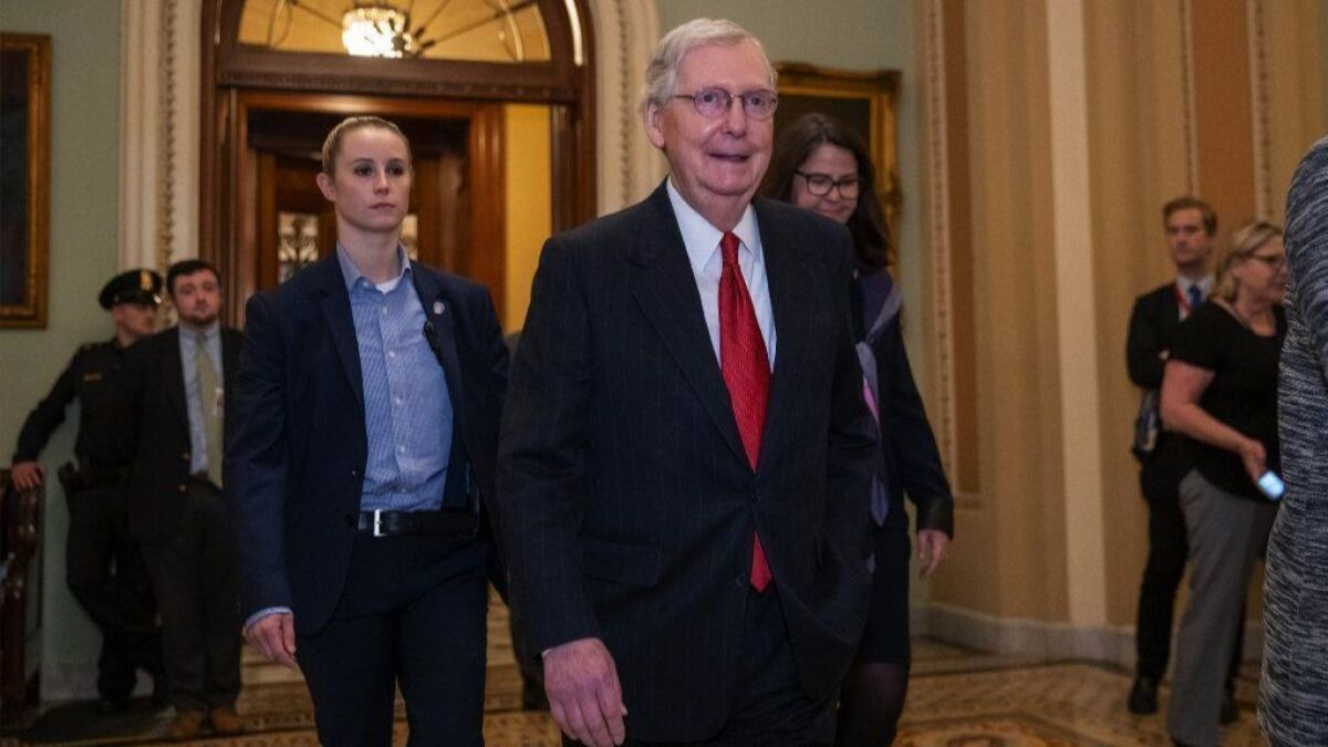 Us Senate Calendar 2020 McConnell uses his control of the Senate to put pressure on 2020