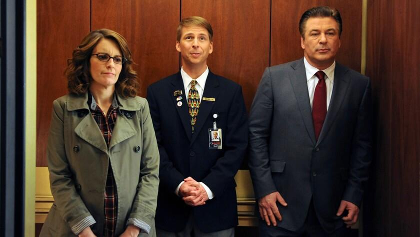 "Tina Fey, Jack McBrayer and Alec Baldwin in ""30 Rock"""