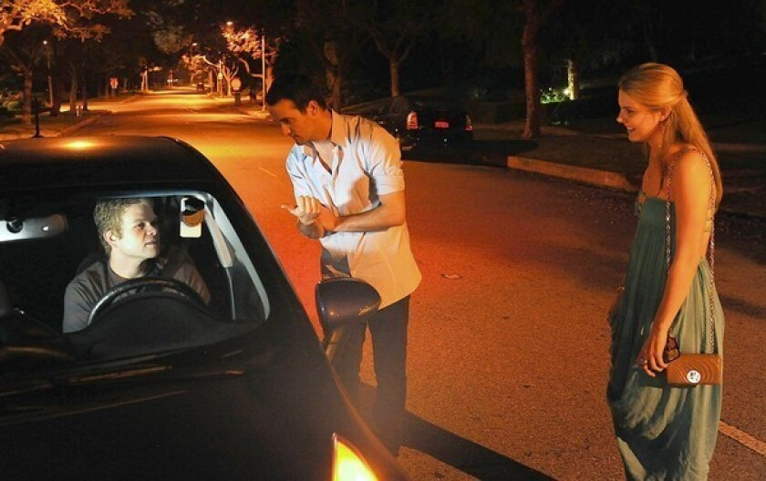 Jimmy Lucia picks up passengers in Hollywood as part of his nighttime ride-sharing job. During the day he works as a filmmaker.