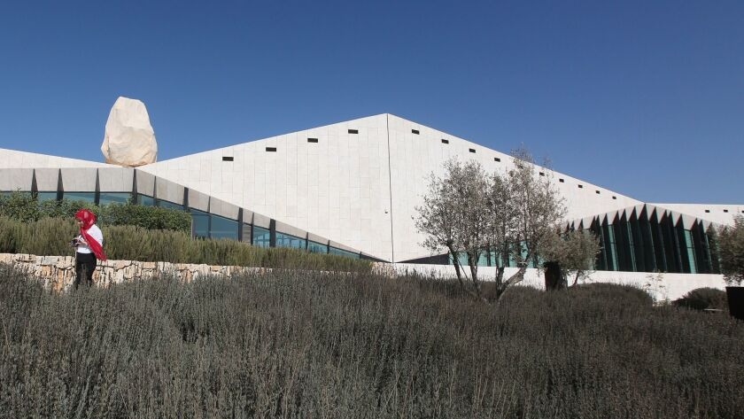A view of the new Palestinian Museum in the West Bank city of Ramallah.