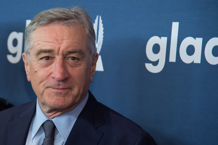 Robert De Niro attends the 27th Annual GLAAD Media Awards at the Waldorf Astoria on Saturday, May 14, 2016, in New York. (Photo by Charles Sykes/Invision/AP)