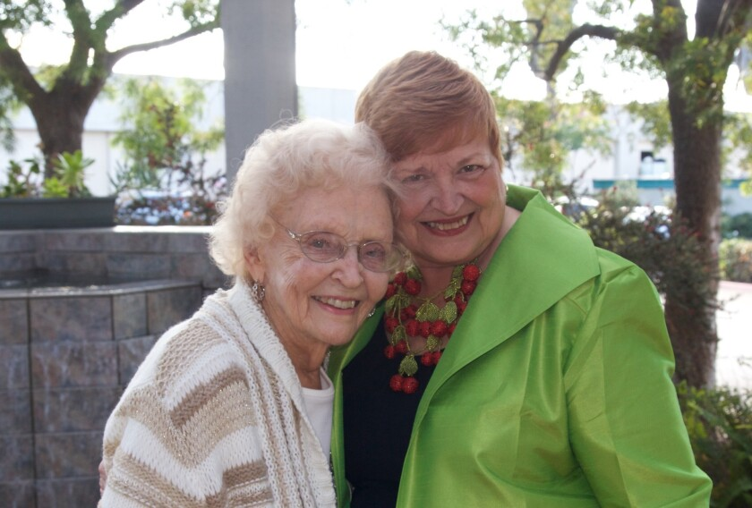 Betty Bulen (left), founder of The Elizabeth Hospice, attended the nonprofit's 34th annual Light Up a Life ceremony. Pictured with Bulen at the ceremony at The Unity Center is Jan Jones, CEO and president of the hospice.