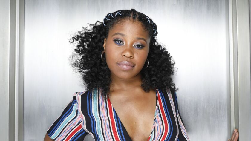 NEW YORK, NEW YORK--JULY 16, 2018--Dominique Fishback is an actress and playwright who is best known