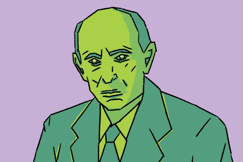 Illustration of Arnold Schoenberg.
