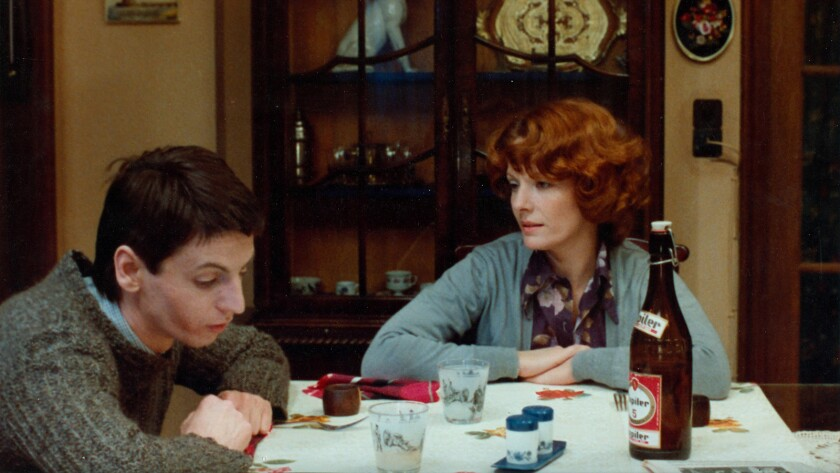 """Jan Decorte, left, and Delphine Seyrig in the 1975 French drama """"Jeanne Dielman, 23 Commerce Quay, 1080 Brussels."""""""