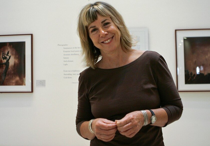 Carol McCusker, longtime curator at the Museum of Photographic Arts, in the museum's galleries. (2006 U-T file photo)