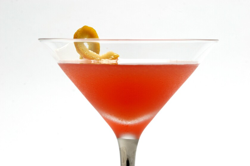 The Ward 8 combines rye, lemon juice, orange juice and Grenadine for a quick and easy cocktail. >Recipe: Ward 8.