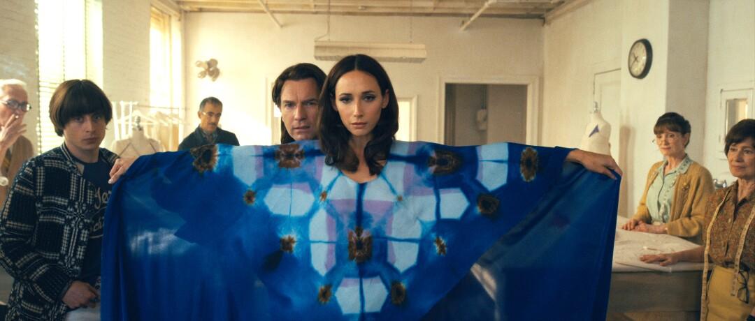 """Rory Culkin, Ewan McGregor as designer and Rebecca Dayan as """"Halston."""""""