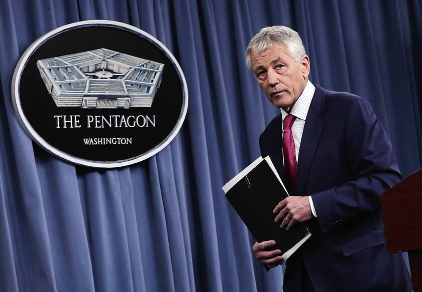 Defense Secretary Chuck Hagel speaks about U.S. plans to expand its anti-missile system, aimed at protecting against North Korea.