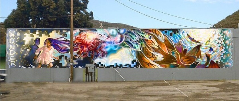 The artwork that the Arts Commission approved on Monday for the Laguna Canyon Road site.