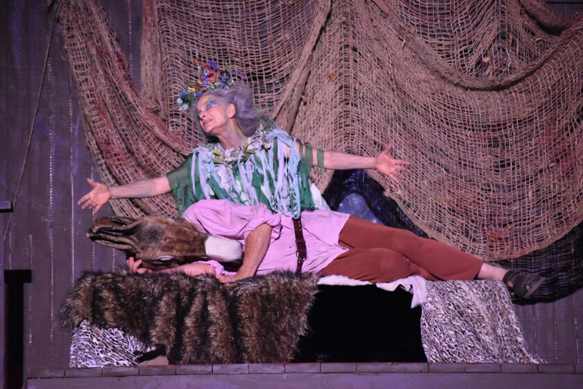 """Two people perform in """"A Midsummer Night's Dream."""""""