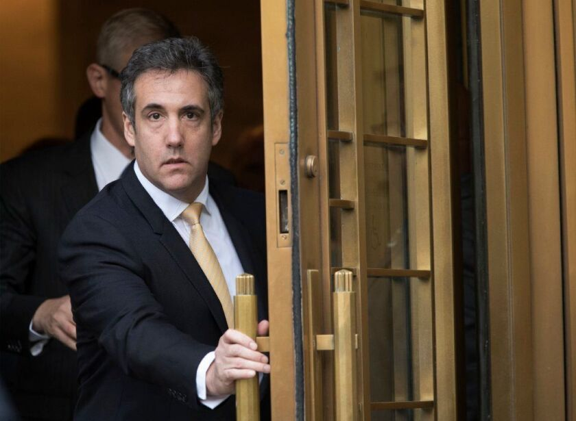 Michael Cohen, President Trump's former lawyer, leaves federal court in New York on Aug. 21, 2018, after entering the first of two guilty pleas.