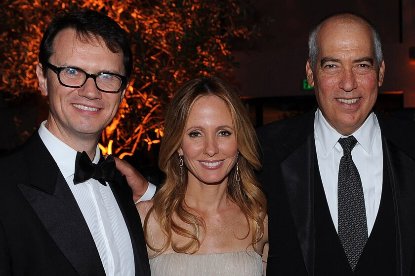 Fox Networks CEO Peter Rice, left, with Dana Walden and Gary Newman, who now oversee Fox Broadcasting programming.